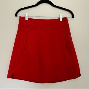 J.Crew Red Wool Mini Skirt